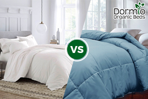 The Difference Between Organic Duvets And Synthetic Comforters